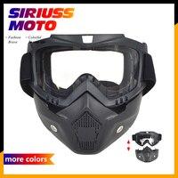 Motorrad-schutzbrille W/Gesicht Maske Helm Sonnenbrille Ski Bike Zyklus Motocross Motorrad Motor Abnehmbare Goggle Gläser