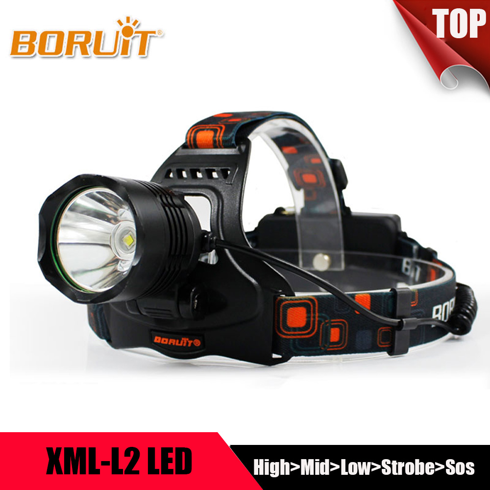 BORUIT Multifunction 5 Modes XML L2 LED Headlight Headlamp Power Bank Head Lantern Forehead Flashlight Torch 18650 For Camping boruit xml l2 led headlight lantern 4 modes usb power bank headlamp for fishing hunting use 18650 battery torch lanterna rj 5001