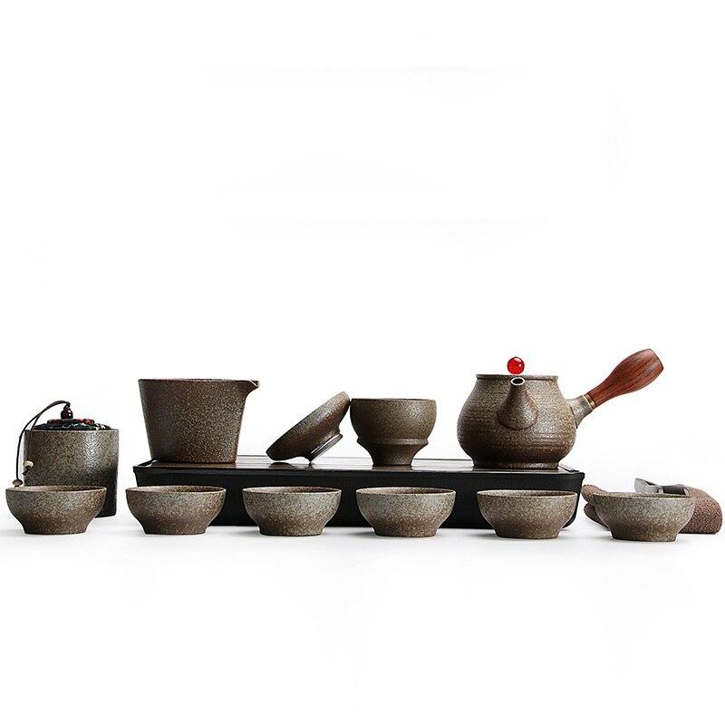 TANGPIN black crockery japanese ceramic teapot kettle tea cup for puer tea pot set japanese tea set porcelain 4