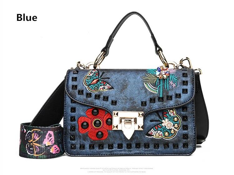 AIBKHK PU Leather Women Handbags Fashion Colored Butterfly ... 832890a1bda04
