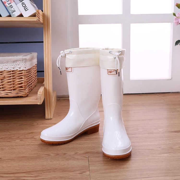 Trung Cao Thấp Ống Ngoài Trời Không Trượt Giày, Vệ Sinh Thực Phẩm Giày, trắng Căng Tin Giày Đi Mưa Và Giày Đi Mưa Giày Đi Mưa Nữ