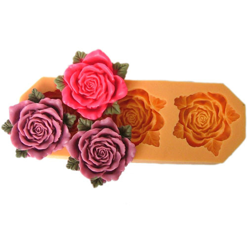 New 2017 3 hole flower Arylic Resin Flower silicone mold,fondant clay molds,sugar craft tools,chocolate mould, molds for cakes