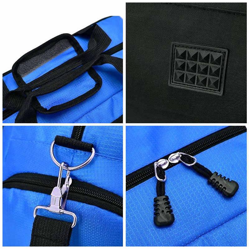 Scione женские водостойкие спортивная сумки дорожные мужские большие емкости нейлоновая Простые фитнес сумка через плеч