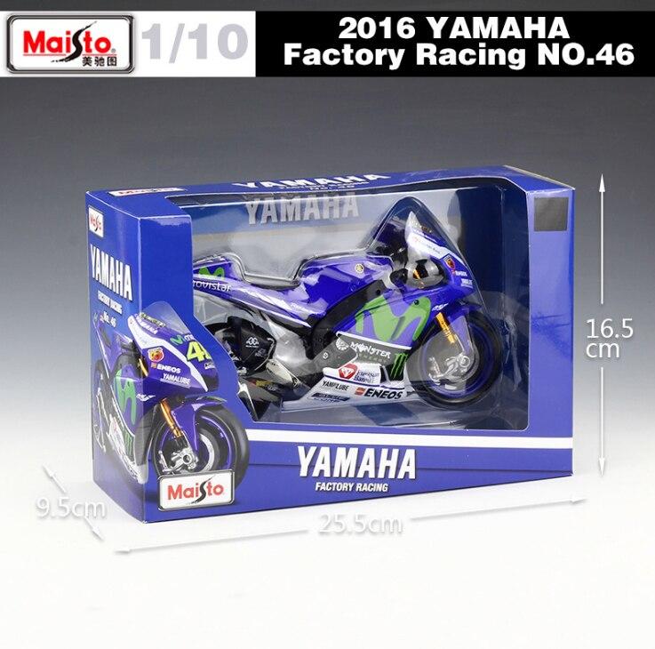 New Maisto 1/10 YAMAHA YZR M1 Factory Racing Team Rossi Moto GP 2016 Rossi  Motorcycle Bike Model NO.46 Diecast Motorbike Toys In Diecasts U0026 Toy  Vehicles ...