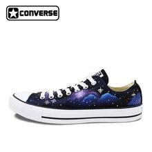 Low Top Galaxy Nebula Original Design Converse All Star Women Men Shoes Custom Hand Painted Shoes