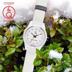 Пара часов Citizen Q & Q, подарок для влюбленных, модные часы унисекс, роскошные брендовые водонепроницаемые спортивные Кварцевые солнечные часы