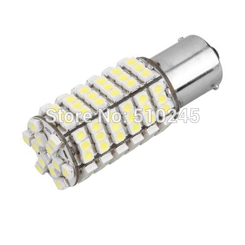 10x car led s25 ba15s p21W 1156 bay15d 1157 p21w/5w 120 led smd 3528 120smd led light bulb lamp WHITE RED YELLOW Free shipping