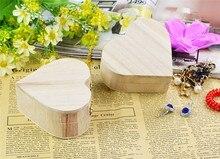 Love Heart Shape Wood Art Jewelry Box