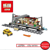 Lepin 02015 456pcs City Series Train Station Building Block Compatible With 60050 Brick Toy For Children