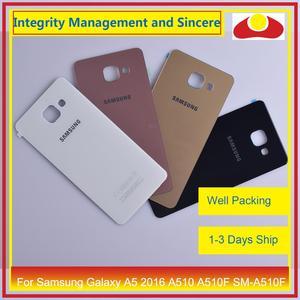 Image 2 - מקורי עבור Samsung Galaxy A5 2016 A510 A510F SM A510F שיכון סוללה דלת אחורי כיסוי אחורי מקרה מארז פגז