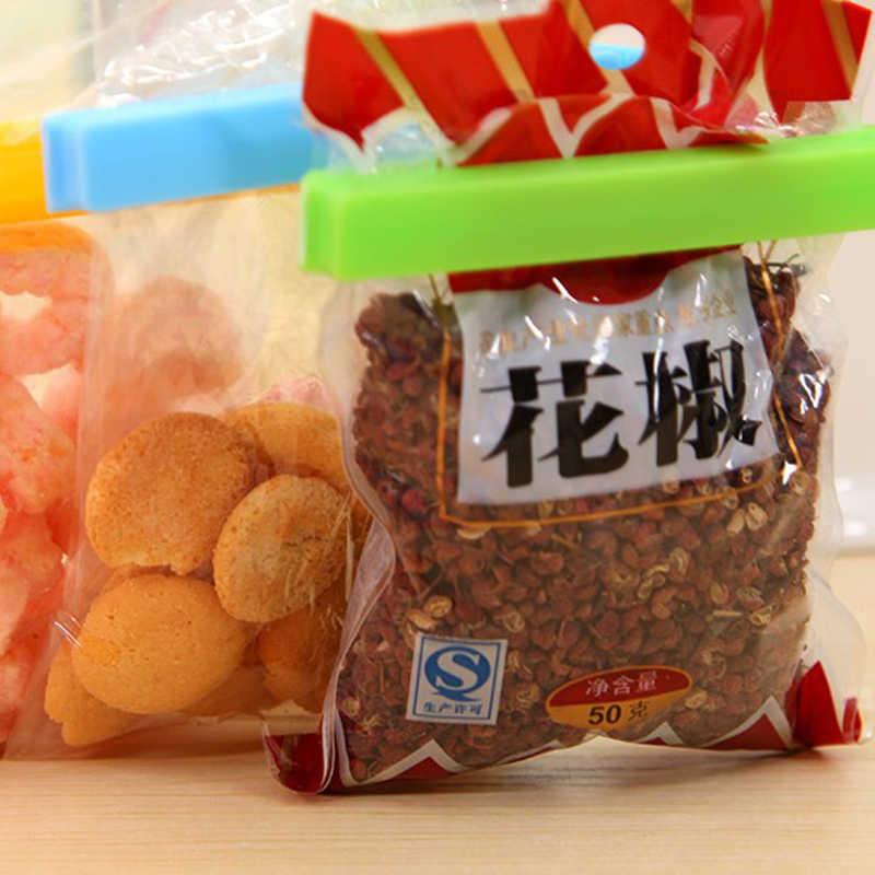 1 Pcs Snack Sealing Clip Seal Food Storage Bag Clip Fresh Keeping Sealer Clamp Plastic Helper Food Saver Kitchen Tool