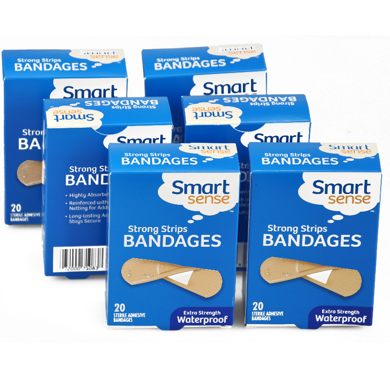 Free Shipping 60PCs/3Boxes Waterproof Breathable 2.5cmX8.3cm PE Adhesive Bandages Band aid First aid Survival Travelling free shipping 150pcs 3boxes 1 9cmx7 6cm camouflage adhesive bandages band aid first aid survival household