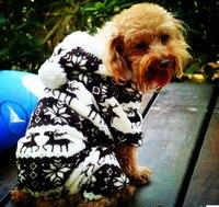 Puppy Pet Fleece Clothes Leisure Cartoon Cotton Fluff Dog Cat Winter Warm Coat Jumpsuit