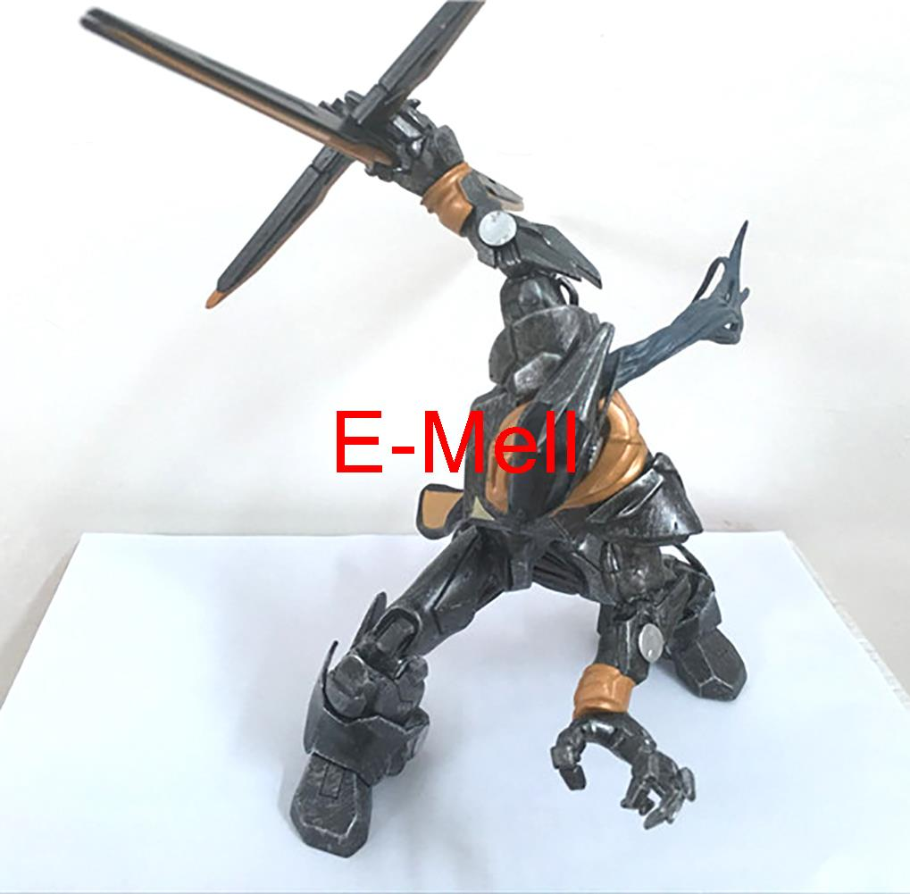 Cosplay 17cm/6.7'' LOL Wuju Bladesman Master Yi PVC GK Garage Kits Action Figures Toys Model made for lol cosplay the loose cannon jinx 24cm 9 5 middle pvc gk action figures toys garage kits standing model
