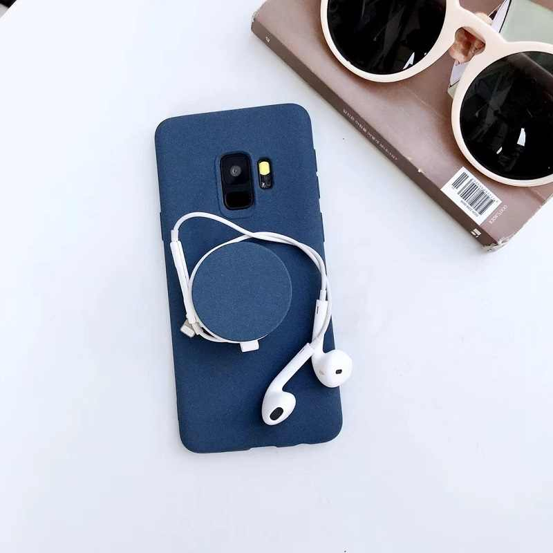 f97b9c2e7a0cc Phone Case For iPhone XS MAX XR Simple Solid Color Scrub TPU Cases fot  samsung S8 S9 plus Note 8 case Candy Color with Kickstand