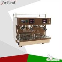 Econômico e comercial máquina de café semi máquina de café expresso por atacado 2 grupo máquina de café do aço inoxidável