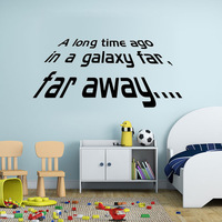 Free shipping Star Wars a long time ago vinyl wall decal quote home decor living room diy art mural removable wall stickers