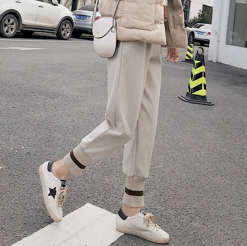 Fashion women's street loose fall feel   wide     leg     pants   straight   pants