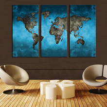 HUGE MODERN ABSTRACT WALL DECOR ART OIL PAINTING CANVAS no frame Blue World Map Home Decoration декоративный крючок huge home f000406