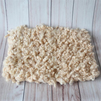 New Curly wool flokati rug blanket Newborn baby knitted chunky blanket photography props Baby felted curly basket stuffer filler