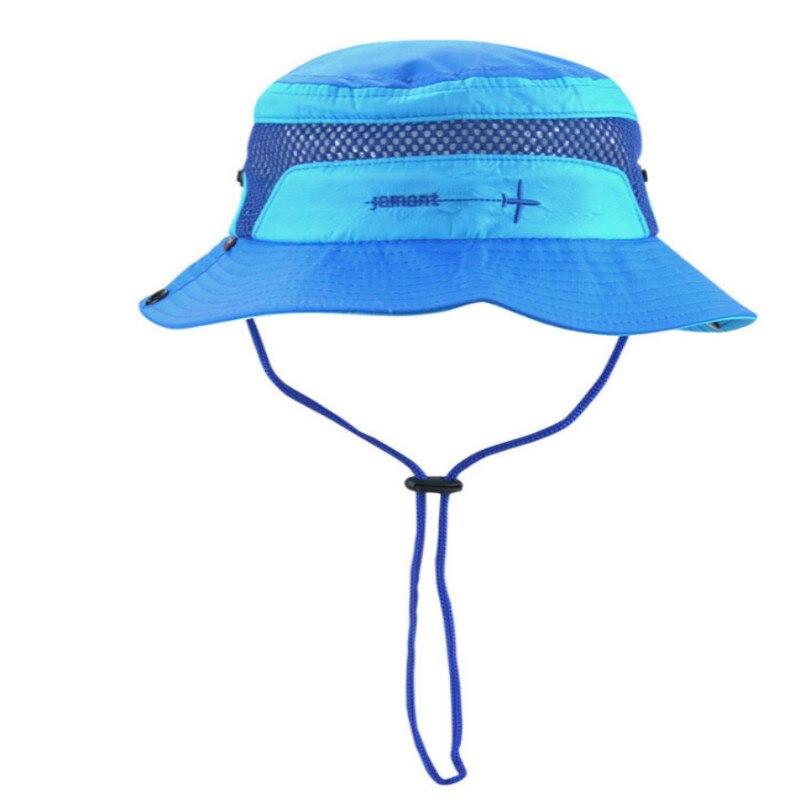 Jamont  enfants broderie large bord de pêche cap enfants plage soleil  chapeau polyester seau chapeau pour bébé fille boy d été panama gorras dans  Chapeaux ... 81b2b2f4a76