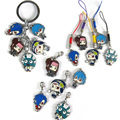 Anime DMMD Dramatical Murder Pendant Cartoon Metal Rings Cell Phone Strap Keychain Charms Lobster Clasp Alloy Zinc Figure Toys