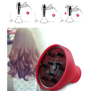 Blower-Cover Diffuser Hair-Dryer for Salon Professional Retractable Curly Universal