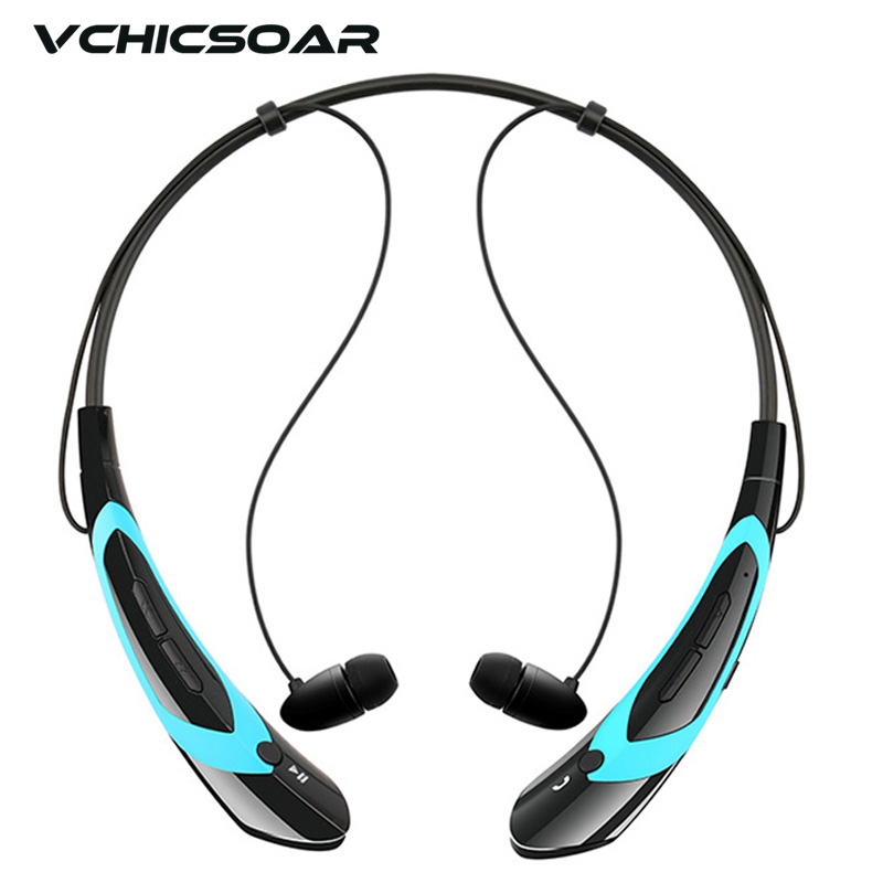 VCHICSOAR Fashion Wireless Bluetooth Headset V4.0 Neckband In-Ear Headphones Stereo Earphones with Mic for LG iPhone Sony xiaomi new fashion sweatproof wireless bluetooth v4 0 sports stereo headphones with mic ear hook earbuds earphones for iphone for sony