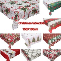 Meijuner Hot Sale 2018 Christmas Decorations Rectangular Tablecloth Prints Creative Christmas Restaurant Tablecloths Table Cover