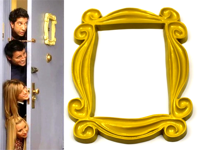 TV Show Friends Yellow Resin Monica's Door Peephole Frame Home Decor Collection Friends Photo Frame New 2018 Birthday Gift-in Costume Props from Novelty & Special Use
