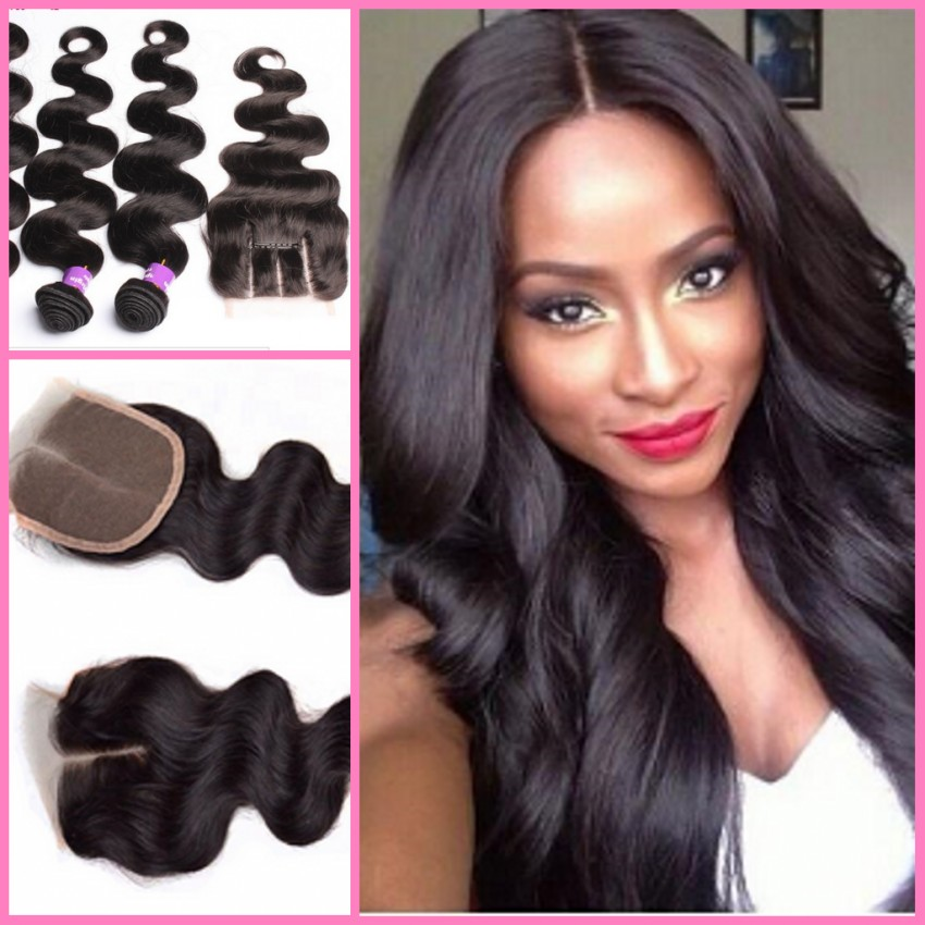 Brazilian hair weave 3 bundles with lace closure hair weft with brazilian hair weave 3 bundles with lace closure hair weft with closure hair extensions 4pcs lot on aliexpress alibaba group pmusecretfo Choice Image