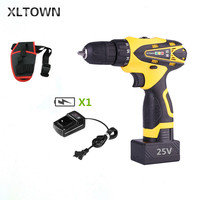 XLTOWN 25v Mini Drill Multi function Rechargeable Lithium Battery Electric Screwdriver Household power tools Hand Electric drill