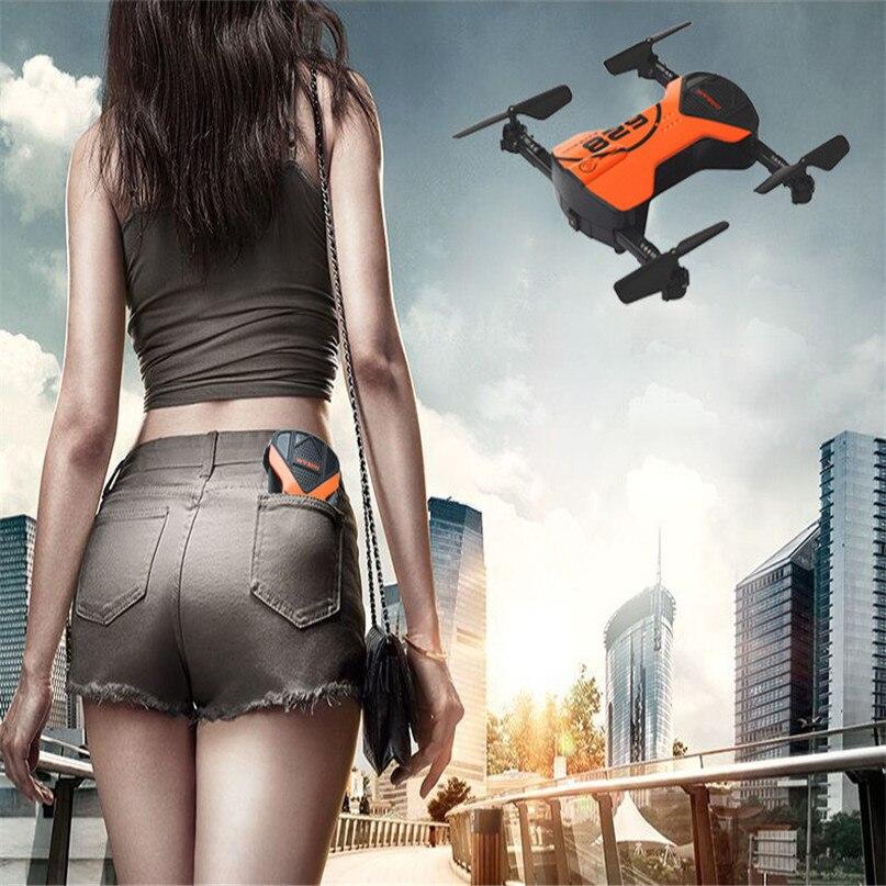все цены на  Orange Hot 2.4G 4CH Altitude Hold HD Camera WIFI FPV RC Quadcopter Pocket Drone Selfie Foldable High Quality  Dropshipping JU11  онлайн