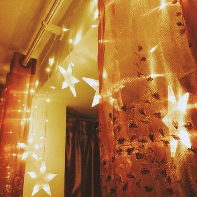 getrouwd pakket mail ster licht led verlichting flash lampen alle over de sky star light