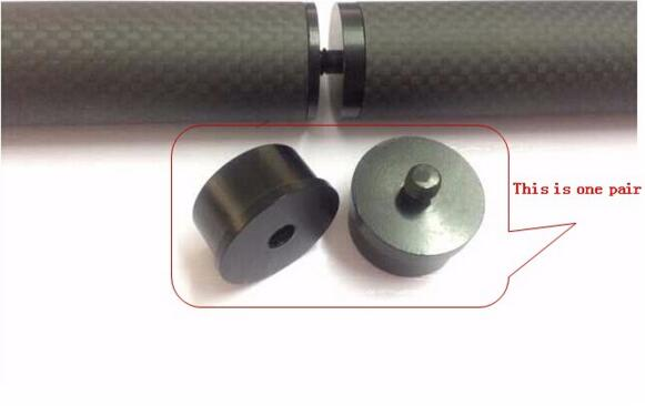 8 pairs Multi axis aircraft carbon pipe joint Aluminium alloy connector Suitable for 25mm carbon tube