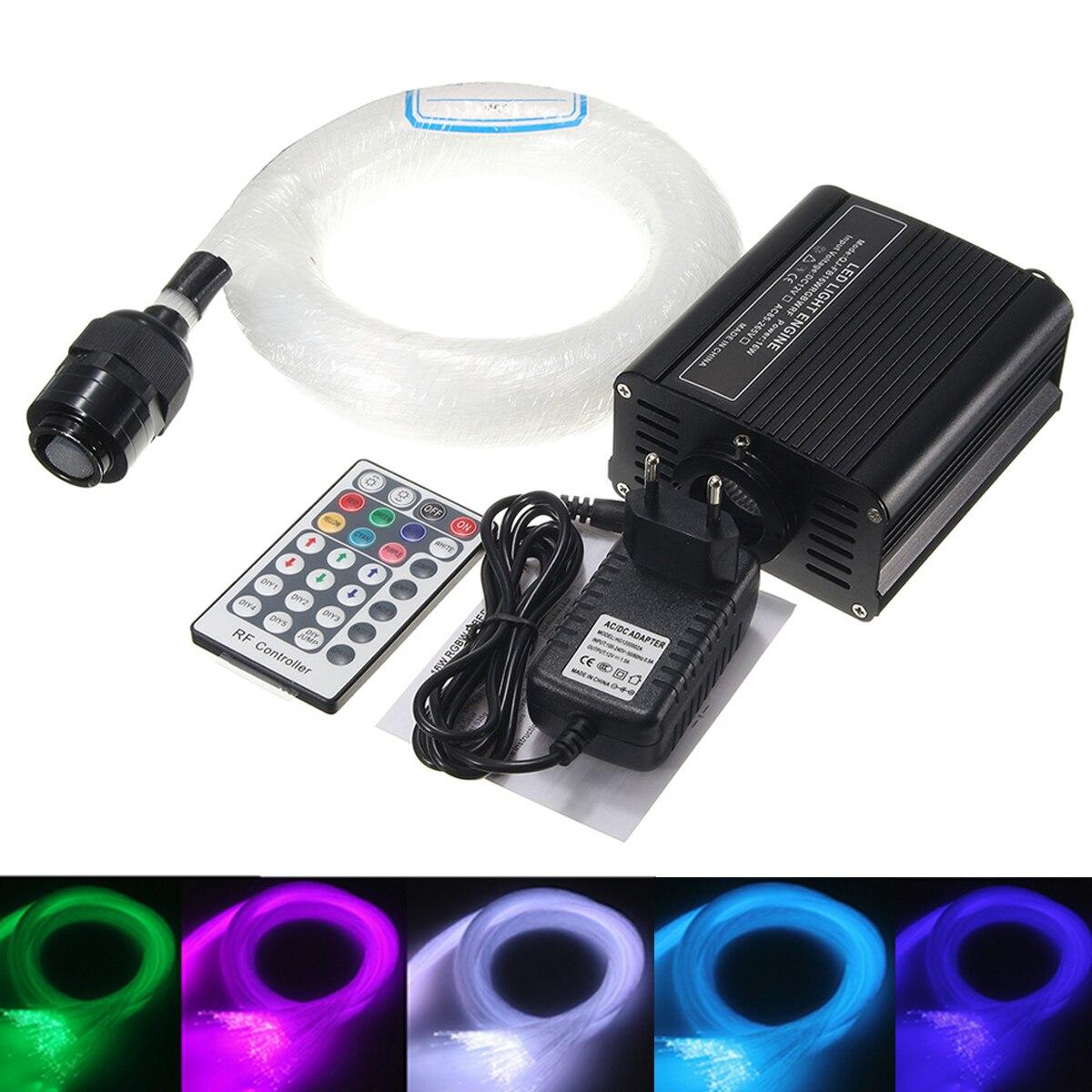 все цены на 300Pcs Fiber Optic Lamp 16W Fiber Optic Light Source Remote Fiber Optic Lighting Machine Kit DIY Romantic Light Decoration онлайн