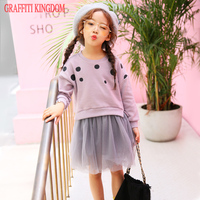 Girls Fashion Boutique Dress New Arrival 2017 Spring And Autumn Baby Girls Princess Dress Children Teenage