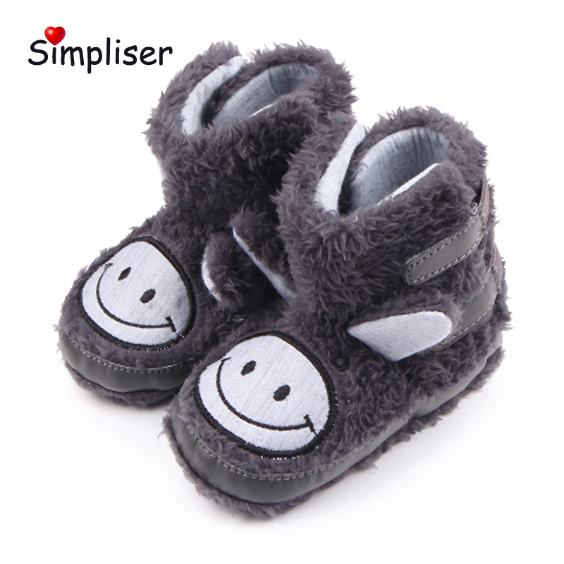 2018 Winter Baby Boots Infant Toddler Shoes Newborn baby Shoes Girls Boys Anti-slip First Walkers Super Keep Warm Booties
