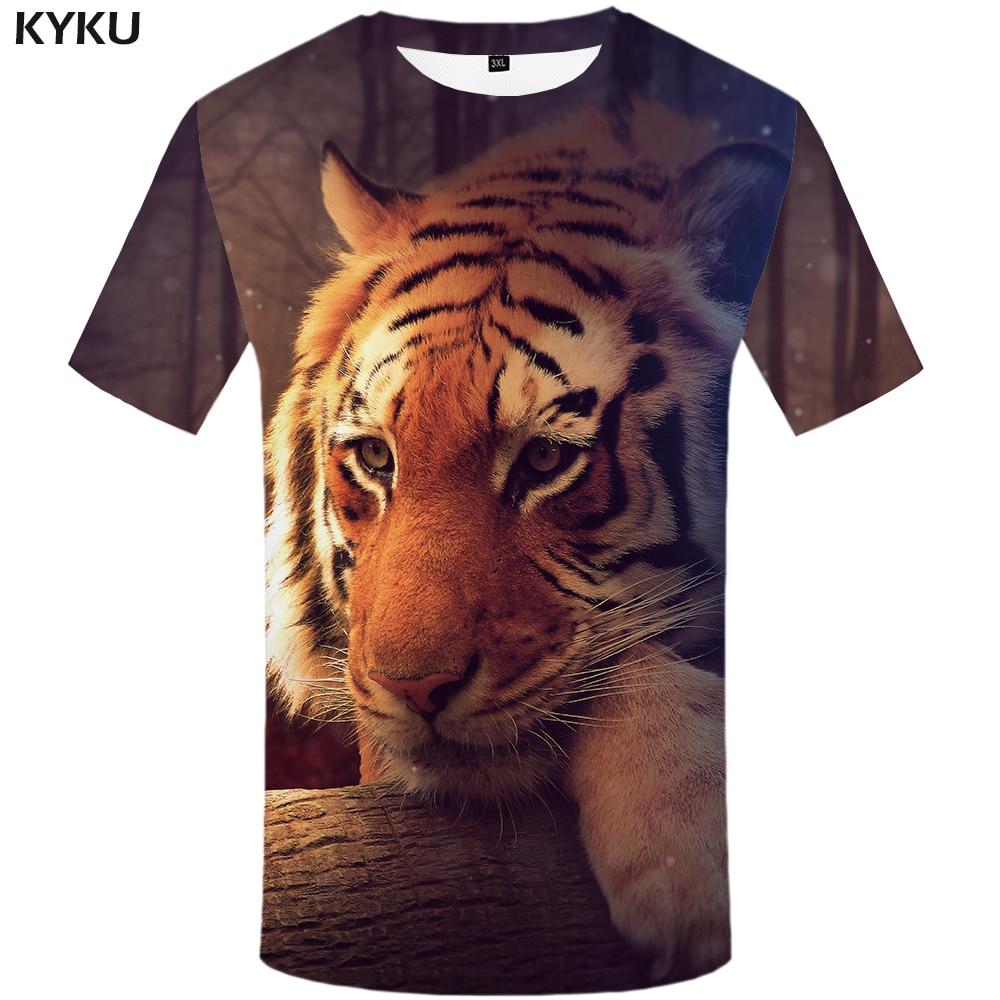 Tiger Head Cool illustration Design Men Women T-shirt Unisex V63