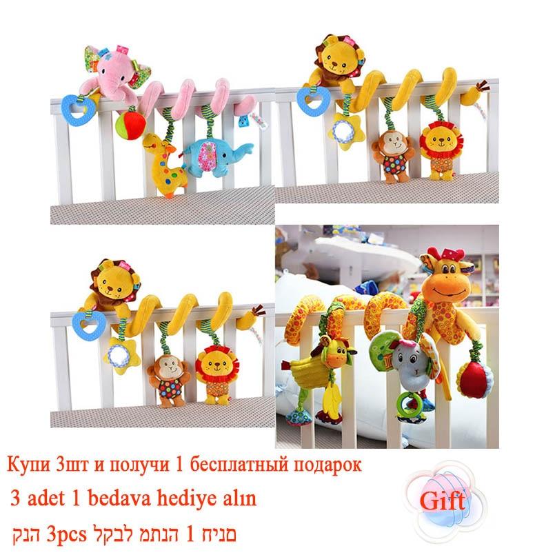 Lembut Bayi Crib Bed Stroller Mainan Spiral Bayi Mainan Untuk Bayi - Mainan balita - Foto 6