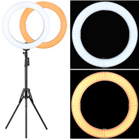 5500K Led Ring Light With Tripod Stand Selfie Photographic Lighting Dimmable For Camera Photography Photo Studio