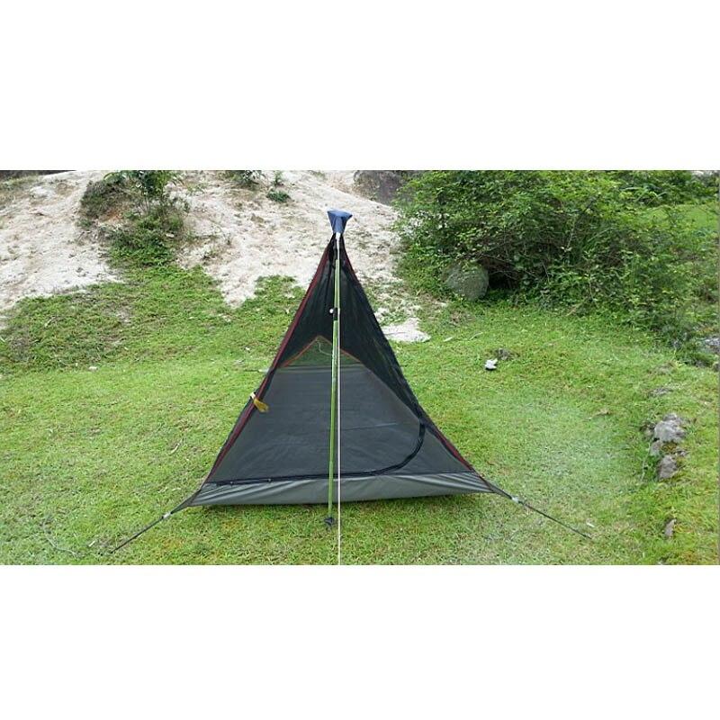 ultra leve 592 gramas trapezoidal 1 2persons unica tenda gaze verao mosquito tenda 05