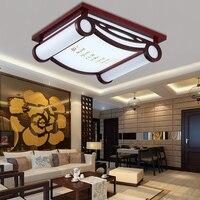 Chinesische decke lampe led massivholz wohnzimmer studie lampe antike schaffell schlafzimmer lobby beleuchtung platz garten beleuchtung lampe-in Deckenleuchten aus Licht & Beleuchtung bei