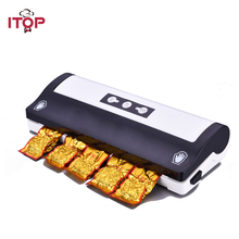 купить ITOP Home Vacuum Food Sealers Automatic Vacuum Food Packing Machine Multifunctional Vacuum Sealer Machine 220V дешево