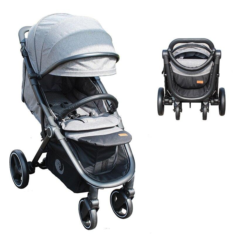 коляска детская портативный детские коляски просторное высокое положение коляска легкая прогулочная Европейский стандарт ...