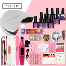 Manicure Set Gel Nagellak Set 36W Droger Lamp 8ml Nagellak Gel Lak Vernis Semi Permanente Gereedschap voor Manicure Art Kit(China)