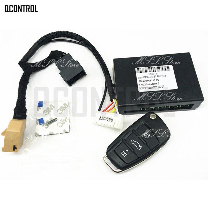 Système d'entrée sans clé QCONTROL avec clé à distance pour Audi A6 A6L S6 Q7 2005-2010 Support 315/433/868 MHz