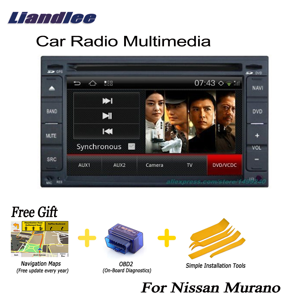 Liandlee 2 din Car Android GPS Navi Navigation Maps For Nissan Murano  2002~2007 Radio CD DVD Player Audio Video Stereo OBD2 TV-in Car Multimedia  Player from ...
