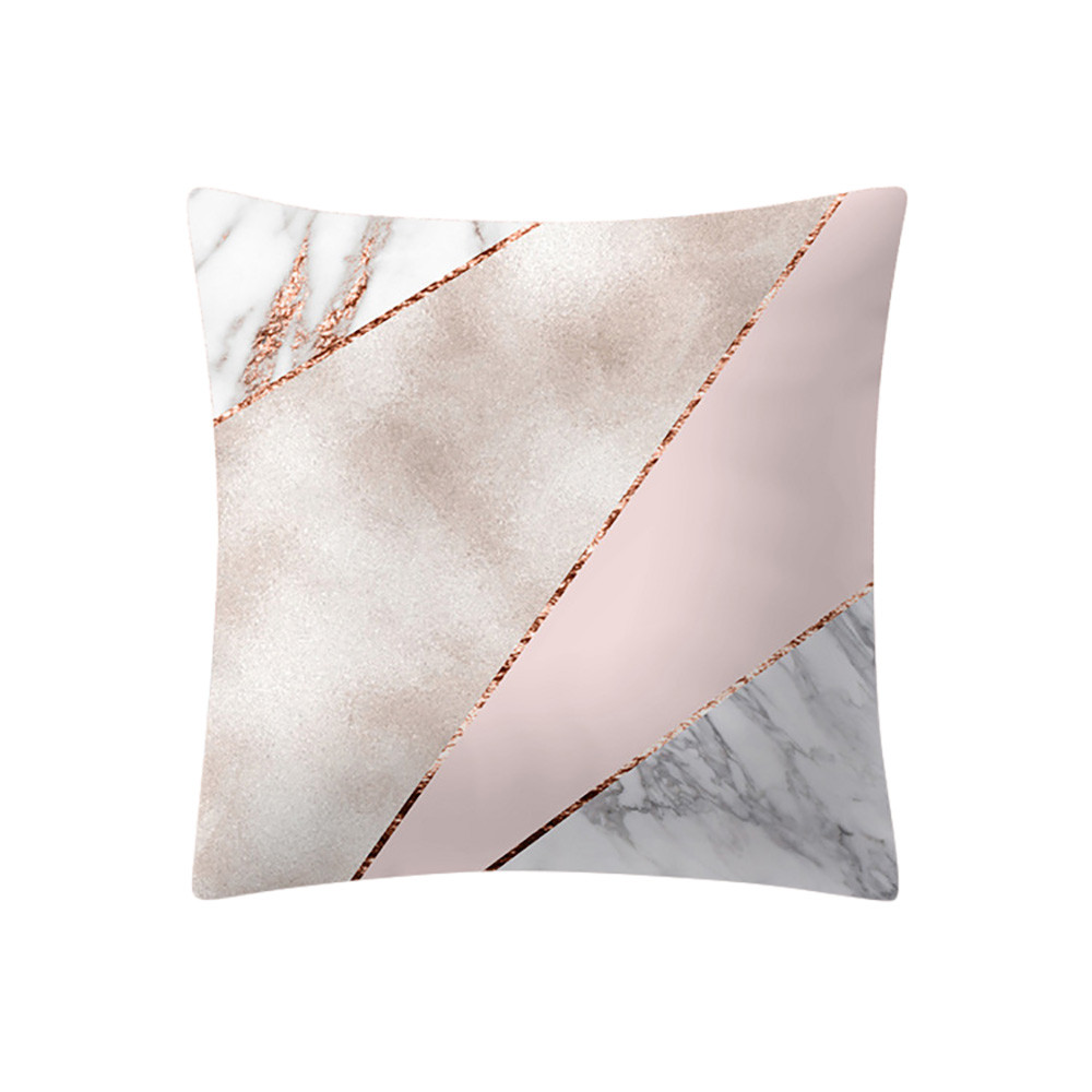 Pink Cushion Pillowcase Sofa 45x45cm-Case Home-Decoration Rose-Gold Square Cotton Linen title=