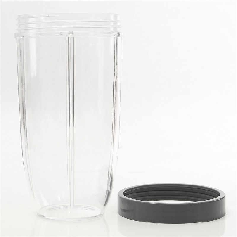 32 oz Espremedor De Peças Cinza Substituição Copo Transparente Com Tampa de Plástico Para Liquidificador Nutribullet Para Nutri Para Bala